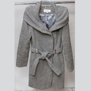 Calvin Klein Zip Closure Pea Coat Size Small